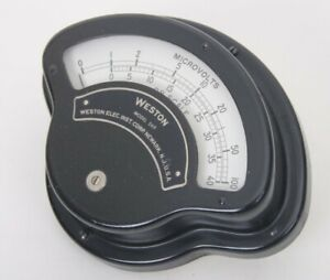 Vintage Weston Microvolts Db Scale 0 100 0 40 Model 269 No 230246 Stoddart 10402