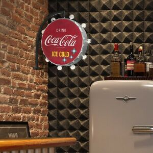 Coca-Cola Double Sided LED Marquee Sign Wall Decor Man Cave Bar Garage Battery