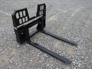 Bobcat Skid Steer Attachment 48 5500 Lbs Walk Through Pallet Forks Ship 179
