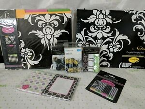 Lot Of New Packs Assorted Decorative File Folders Office Supplies Stick On Clips