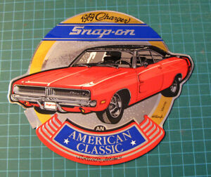 Snap On Sticker Decal Vintage Original Sticker Tool Box Hot Rod Charger 1969