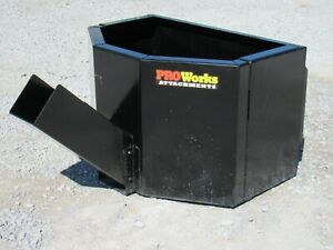 Concrete Dispensing Bucket Attachment Fits Skid Steer Loader 5 8 Cubic Yard