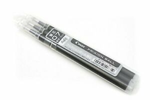 Pilot japan Frixion Ball 0 7mm Black Ink 3 refills X 10 pack F s W tracking