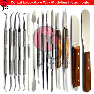 Dental Technician Laboratory Wax Modeling Tool Waxing Carver Plaster Spatula Lab