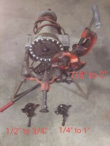 Rigid 300 Pipe Threader 300 W Stand 3 Dies Incl Used In Working Condition