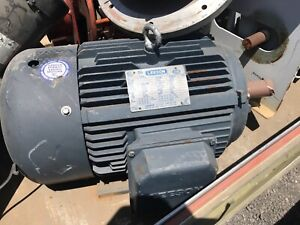 Leeson Electric Motor 15 Hp 1460rpm Vac 256t Frame