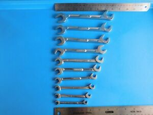 Used Snap On Tools Angle Head Wrench s Lot Of 10 Wrenchs