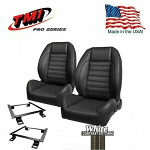 Tmi Pro Series Complete Bucket Seat Set For 1966 1972 Chevelle W factory Bench