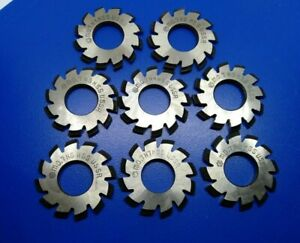 Set 8pcs Module M0 7 Inner Bore 13mm 1 8 Hss Involute Gear Cutters Disk shaped