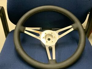 New 1965 Shelby Gt350 65 68 Mustang 15 Inch 6 Bolt Leather Steering Wheel