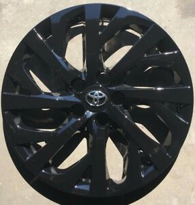 4 Xfull Set Black Hubcap Will Fit Your 2017 2018 2019 Toyota Corolla 16 61181