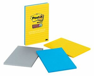 Post it Super Sticky Notes 4 X 6 New York Collection Lined 256173