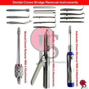 Automatic Manual Crown Remover Gun Restoration Dental Surgical Instruments Lab
