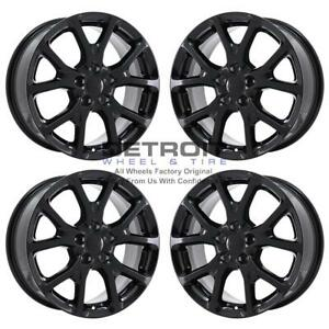 17 Jeep Cherokee Gloss Black Exchange Wheels Rims Factory Oem 9130 2014 2019