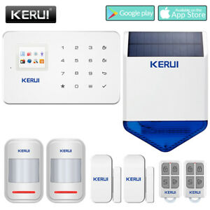 Kerui G18 Gsm Sms Wireless Home Infrared Anti theft Solar Energy Alarm System