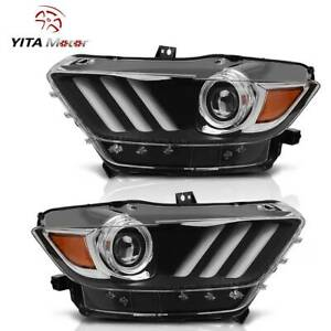 Yitamotor Projector Headlights For 2015 2016 2017 Ford Mustang Headlamp Assembly