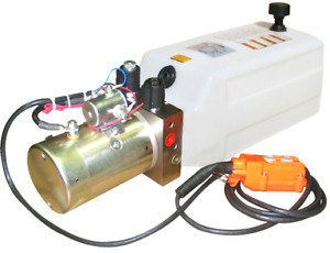Bailey Hydraulic Power Unit 12v Dc Solenoid Operated 1 3 Gallon Poly Tank