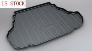 Black Tpo Rear Trunk Cargo Floor Mat Tray Liner Cover For Toyota Camry 2012 2017