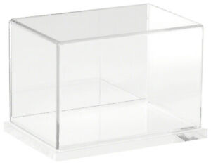 Plymor Clear Acrylic Case W Clear Base mirror Back 6 W X 4 D X 4 H