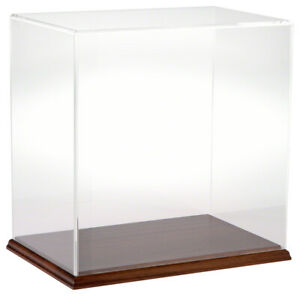 Plymor Clear Acrylic Display Case With Hardwood Base 12 W X 8 D X 12 H
