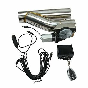 New 3 E Cut Out Valve Electric Exhaust Downpipe Cutout Controller Remote Kit