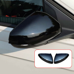 For Volkswagen Polo Mk6 Abs Black Side Door Mirror Cover Trim 2pcs 2018 2020