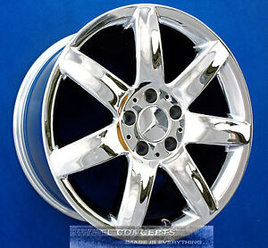 Mercedes Sl500 Sl550 17 Inch Chrome Wheel Exchange Sl 500 550 600 Wheels Rims