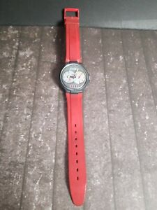 Swiss Vintage Coke Coca Cola Watch Plastic Date Water Resistant Red Black
