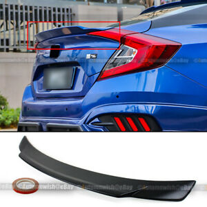 For 16 20 Civic 4dr Unpainted Lower Highkick Duckbill Rear Trunk Wing Spoiler