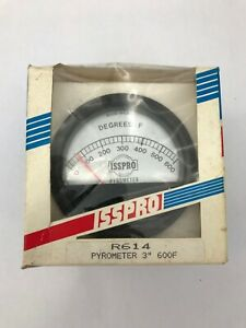 Isspro 3 Inch Pyrometer R614 Nos New In The Box 3 Gauge Meter 600 Degrees F