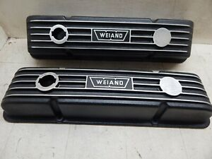 Weiand Valve Covers Sbc Excellent Vintage