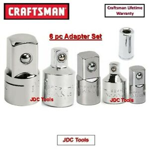 Craftsman Hand Tools 6 Pc 1 4 3 8 1 2 Ratchet Wrench Socket Drive Adapter Set 4