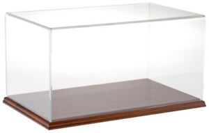 Plymor Clear Acrylic Display Case With Hardwood Base 16 W X 10 D X 8 H