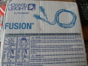 100 Pair Fusion Howard Leight Reusable Earplugs With Cord