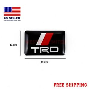 Toyota Trd Emblem Epoxy Raised Sticker Decal 11 Mm X 18 Mm Camry Us