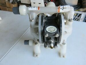 Aro Double Diaphragm Pump air Operated Pd05p ars puu b Both Used But Work Great