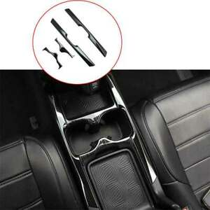 Black Steel Central Console Water Cup Cover Trim For Honda Crv Cr v 2017 2020