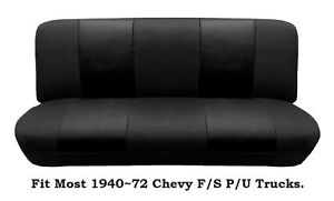 Black Mesh Bench Seat Cover Fit Most 1940 72 Chevy Full Size Trucks Made In Usa