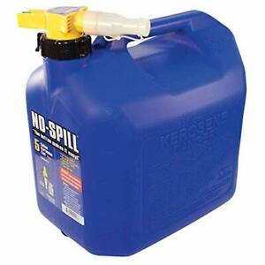 No spill 1456 5 gallon Poly Kerosene Can carb Epa Approved