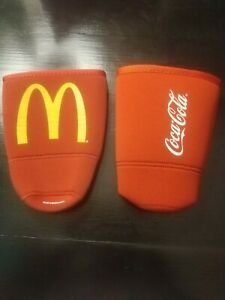 Mc Donalds/ Coca-Cola Koozie/Coozie Cup Sleeves (2)