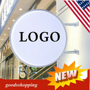 Double Sided Outdoor Round Illuminated Projecting Light Box Sign Led 50cm