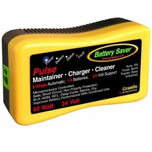 Battery Saver Quick Charger And Auto Pulse Maintainer 2365 24 24v 50w New