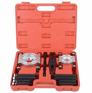 12 Pcs Gear Bearing Splitter Puller Fly Wheel Separator Kit Set With Box Tool