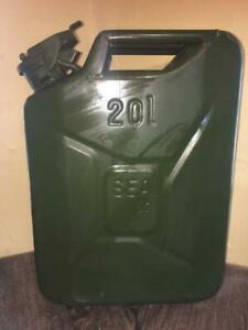 Nato French Military army Green Surplus 20l 5gal Steel Fuel diesel gas Jerry Can