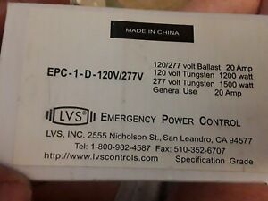 new Lvs Epc 1 d 120v 277v Emergency Lighting Power Control Switch 120 277v