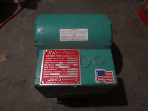 Arco Electric Roto phase Rotary 3 phase Converter Model Mg 5 0hp