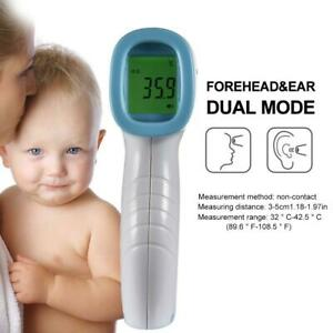 Thermometer Gun Non contact Lcd Digital Temperature Infrared Forehead Body Adult