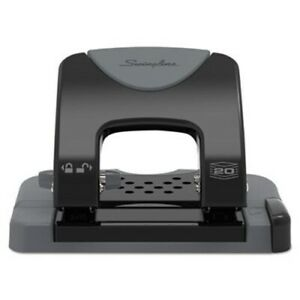 Swingline 20 sheet Smarttouch Two hole Punch 9 32 Holes Black gray swi74135