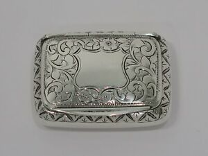 2 1 8 Sterling Silver Gilt Interior Wl Antique C 1809 English Floral Snuff Box