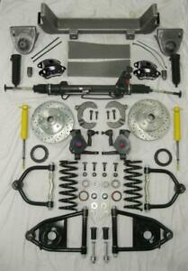 53 56 Ford F100 Mustang Ii Power Front End Suspension Kit 2 Drop Black Wilwood